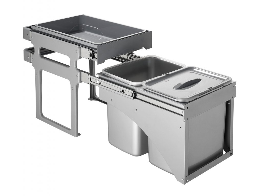 Sinks EK9147 TANK FRONT 40 Odpadkový koš - sorter, vestavný, výsuvný 2x8l + 1x16l