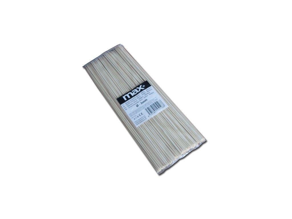 Maxpack W005 Špejle hrocené bambusové 30cm x 3mm - 200ks