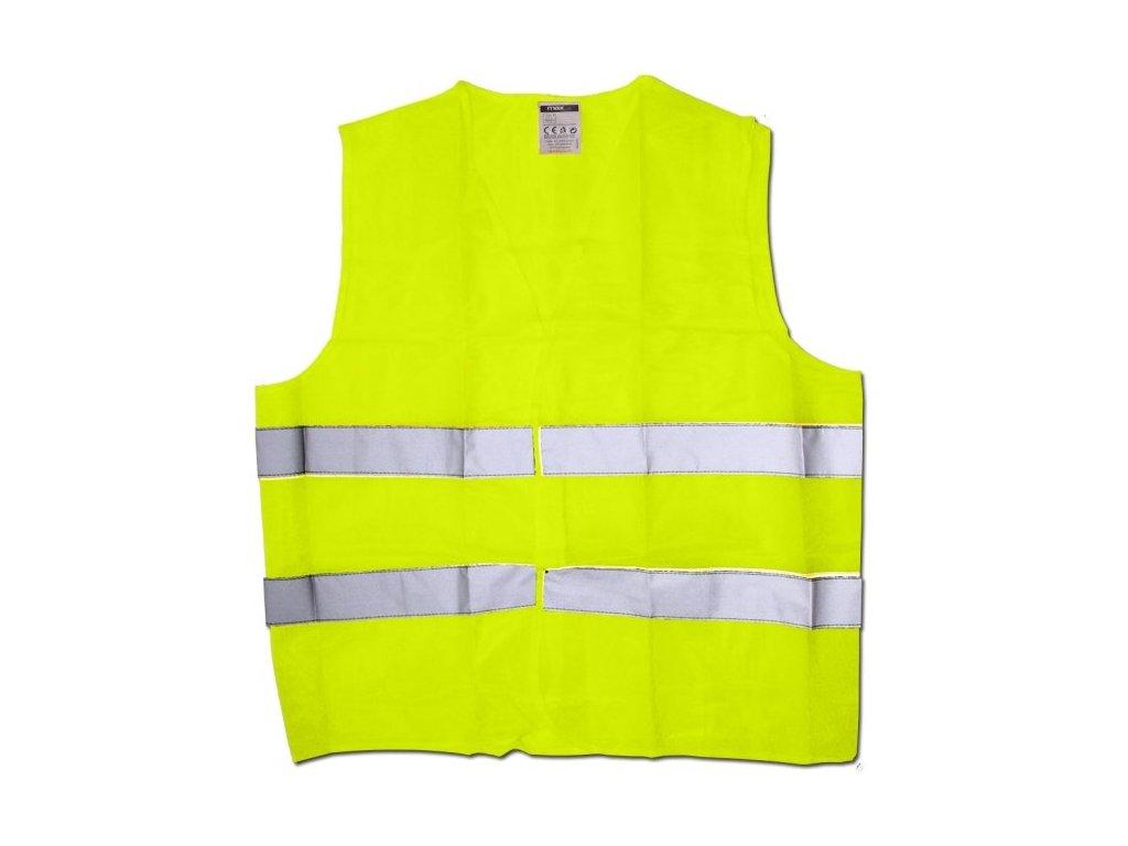 Výstražná reflexní vesta žlutá velikost XL 120g