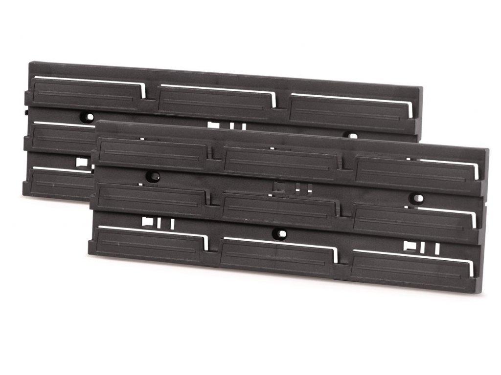 Prosperplast ITBNN130S-S411 Montážní panel HANGING BAR 386x130x18 černý, 2 ks