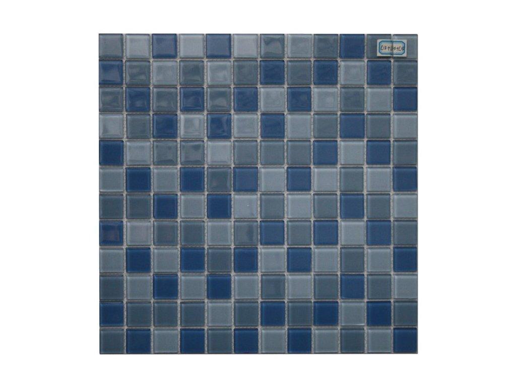 Maxwhite L13 plus L14 plus L15 Mozaika skleněná modrá mix 29,7x29,7cm