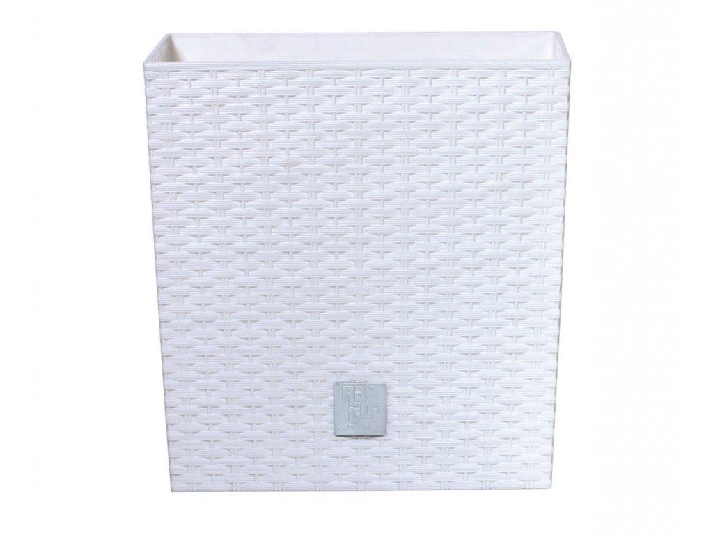 Prosperplast DRTS265L Květináč RATO LOW 26,5 cm, bílá