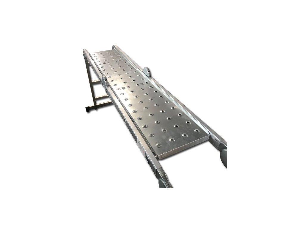 Set DLLA301 pracovní kovová plošina odkládací k žebříku 4x4