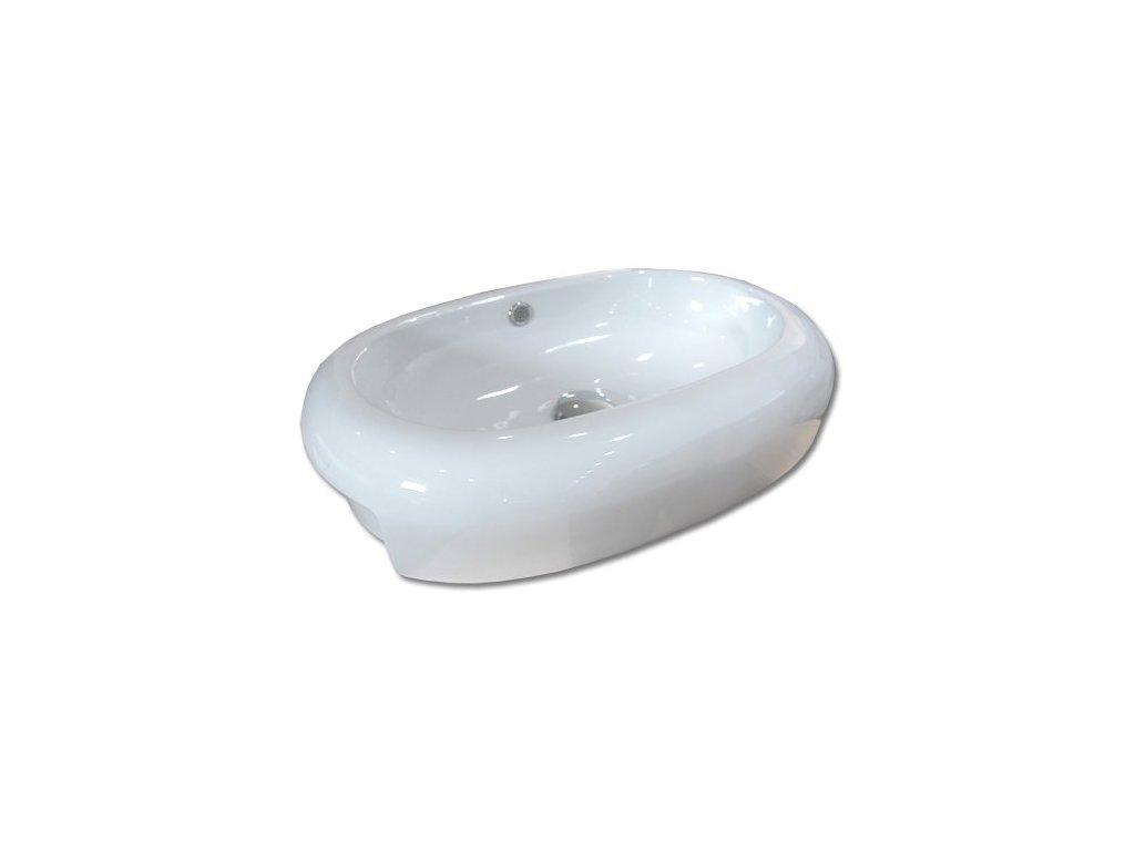 Maxwhite COMO 8009 Umyvadlo keramické oválné zápustné, bílé