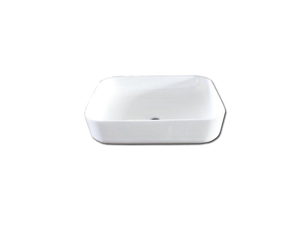 Maxwhite ANDRIA 8242 Umyvadlo keramické obdelníkové na desku, bílé