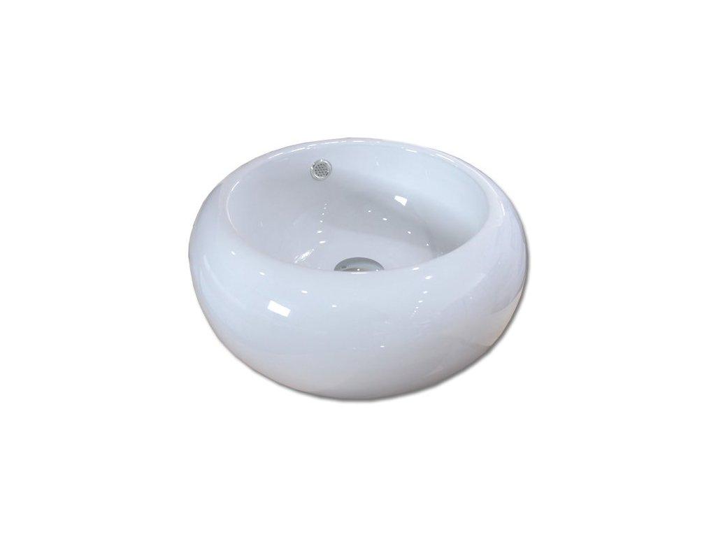 Maxwhite LIGNANO 8130 Umyvadlo keramické kulaté na desku, bílé