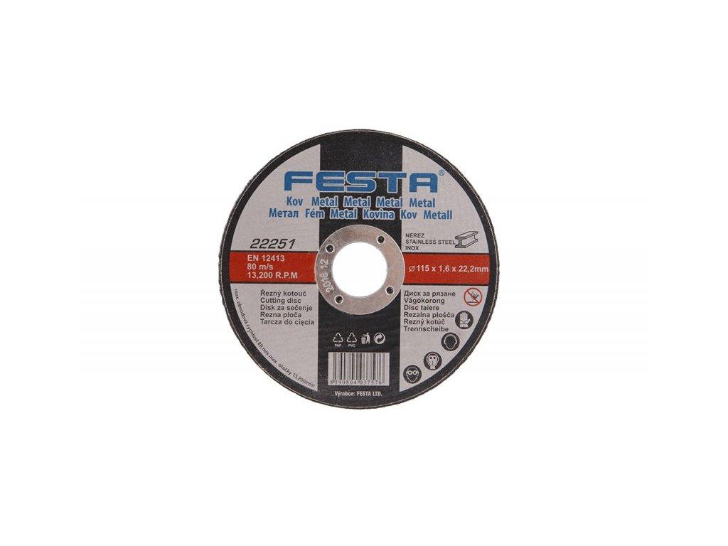 FESTA 22251 Kotouč řezný kov 115x1. 6x22. 2