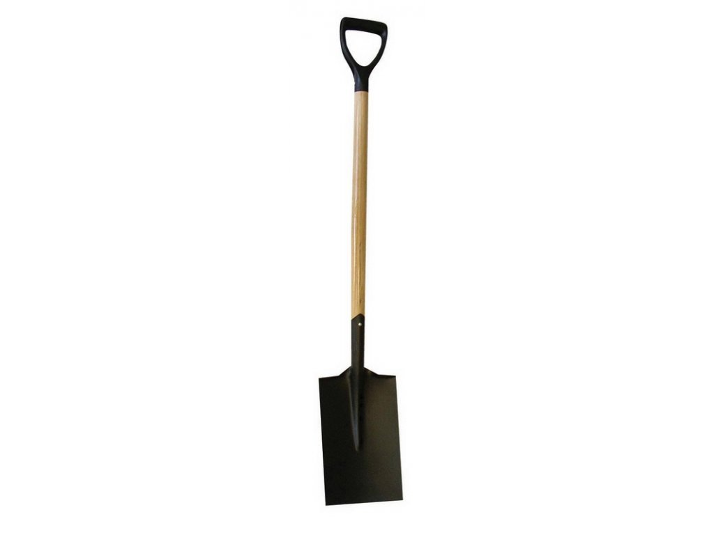 """J.A.D. Tools 13014 Rýč hranatý PRIMA s násadou """"PH-Y"""" 80 cm, černý"""