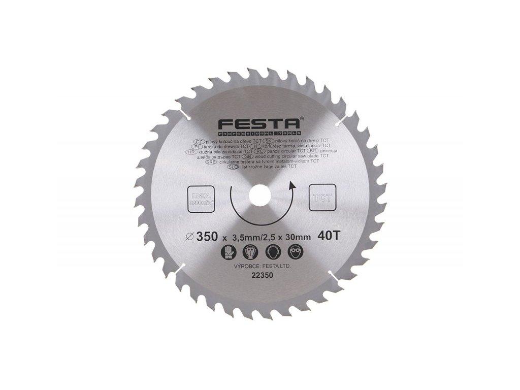 FESTA 22350 Kotouč pilový SK 350/3. 5/30/40Z