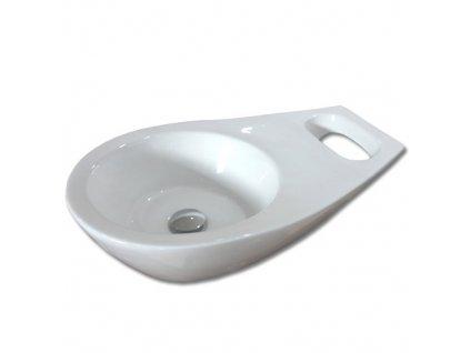 Maxwhite SAN MARINO 8122 Umyvadlo keramické na desku s uchem na ručník, bílé