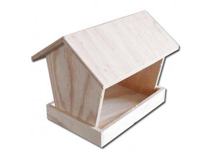 HUKA Dřevěná ptačí budka krmítko pro ptáky