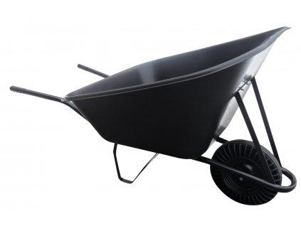 HUKA Kolečko hospodářské 210 l plná pryž plastová korba 100 kg
