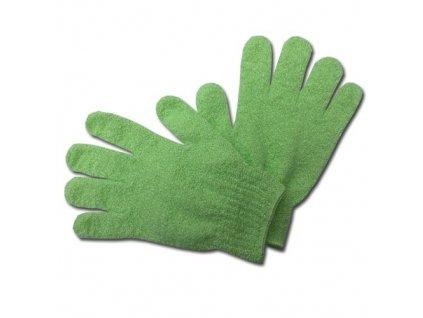 Max SPA Peelingové rukavice masážní zelené