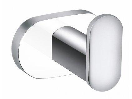 Věšáček jednoduchý Slezák RAV YUA0100CB chrom/bílá