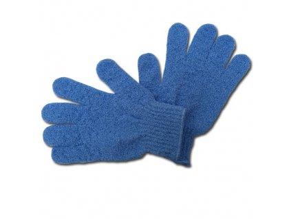 Max SPA Peelingové rukavice masážní modré