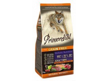 PRIMORDIAL Dog Adult Mini Trout & Duck granule 2kg