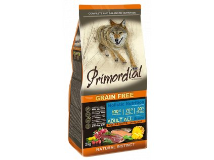 PRIMORDIAL Dog Adult Trout & Duck granule 12 kg