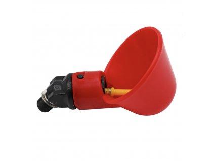 HUKA 98212 Napáječka pro křepelky, kuřata, slepice, drůbež automatická plastová, červená