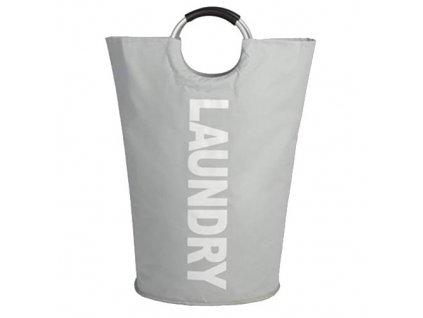 MAX WD3-008 plátěná taška na prádlo 50l - šedá