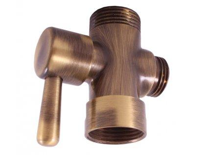 Slezák Rav MD0629SM Keramický přepínač ke sprchovým tyčím - stará mosaz