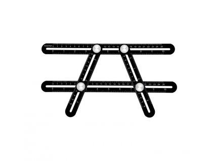 HUKA 2510H Víceúčelové skládací pravítko 25 cm, hliníkové