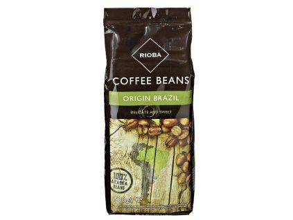 Rioba Brazil 100% Arabica zrnková káva 500g