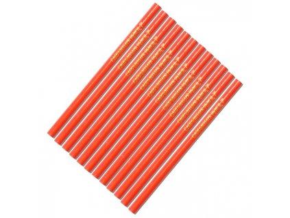 Maxeuro Tužka tesařská (červený lak) 12ks