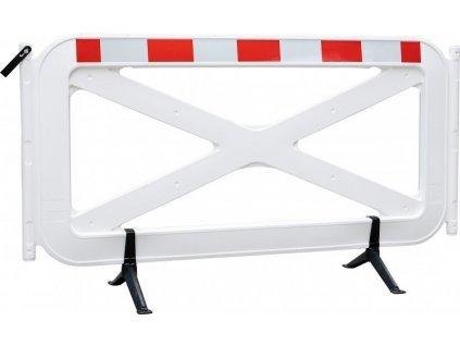 Modulární, mobilní zahrazovací bariéra 115 x 200 cm s otočnými nožkami