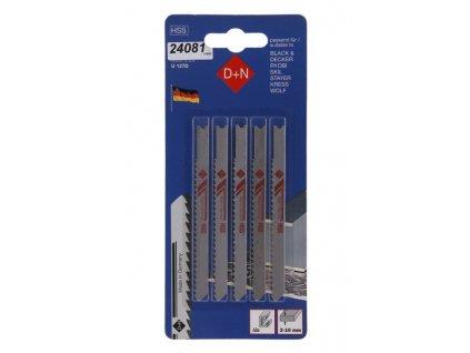 D+N Přímočará pilka B&D 5ks 75mm 1mm HSS 11030