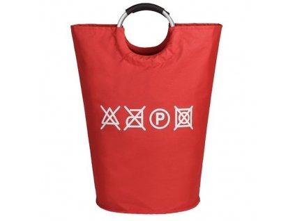 MAX WD3-008 plátěná taška na prádlo 50l - červená