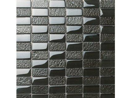 Maxwhite DG805 Mozaika skleněná černá 30x30cm sklo- kobalt