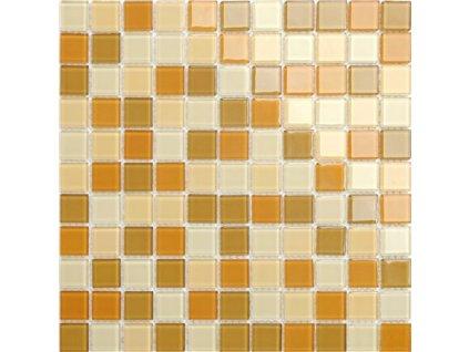 Maxwhite CH4016PM Mozaika skleněná oranžová hnědá 30x30cm sklo