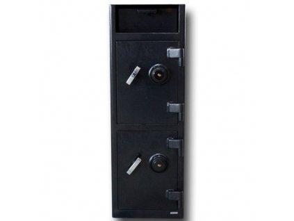 Trezor vhozový DS90 - otočný zámek (dvojitý)
