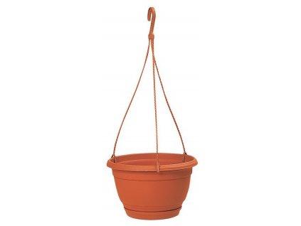 """květináč závěsný """"AGRO"""", DAGW 2, barva terakota (vč. misky), průměr 180 mm"""