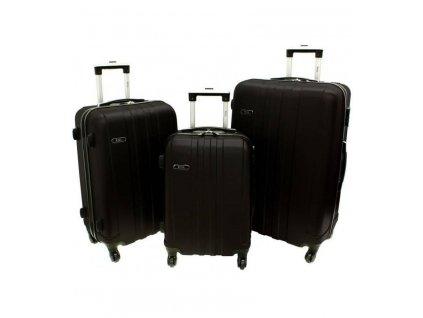 RGL 740-3 Sada skořepinových kufrů 3ks, červná 95l + 62l + 39l