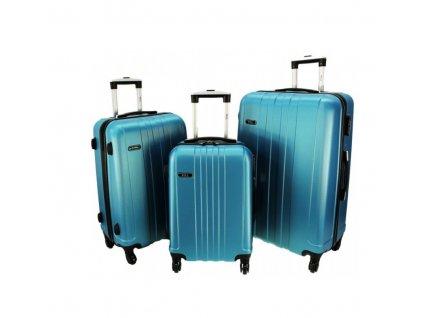 RGL 740-3 Sada skořepinových kufrů 3ks, modrá metalíza 95l + 62l + 39l
