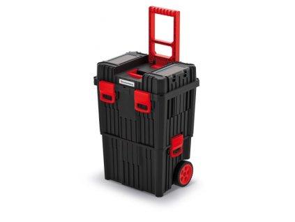 Kistenberg KHVW HEAVY kufr modulární na nářadí s kolečky 450x360x640, černý