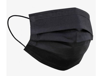 Rouška z netkané textilie 50 Ks, černá