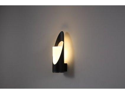 LED Světlo nástěnné černé, 132x102x360mm - LWA312
