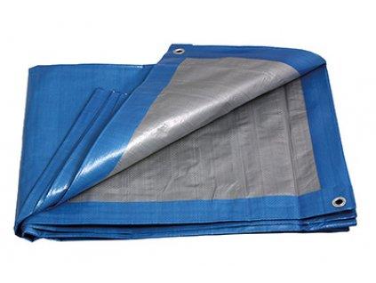 Levior 25260 Zakrývací PE plachta profi 6x10m 140 g/m2 modro-stříbrná