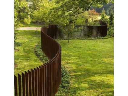 MAX SF1 Cortenový plot 160 x 12x 1 cm