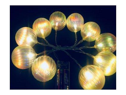 SHARKA SA153 10 LED Solární vánoční osvětlení-koule,teplá bílá