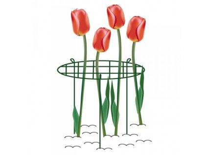 Max kruhová podpěra rostlin s mřížkou průměr 40cm, výška 60cm