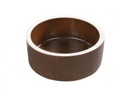 NG 220215hn Krmítko keramické hnědé d15cm 157x157x53 mm