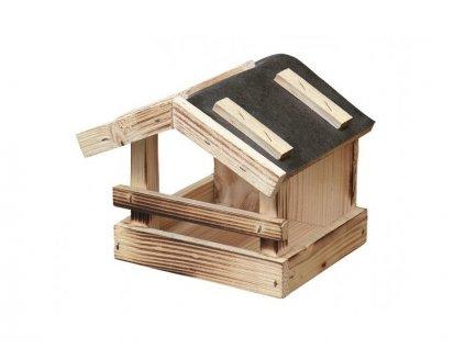 NG 9752fo Krmítko č.4 dřevěné přírodní 24x19x19cm 350x295x225