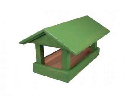 NG 9764fo Krmítko č. 12 dřevěné zelené 24x40x20cm 400x270x210