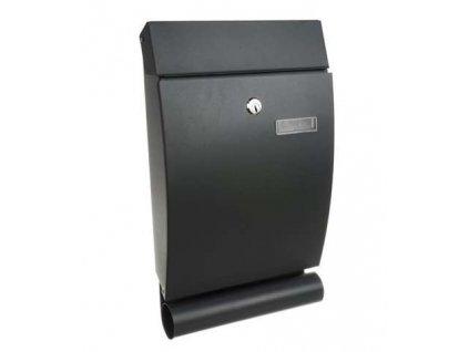 HUKA S12329 poštovní schránka 40x25x7 cm, černá