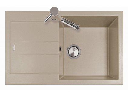 Dřez granitový Sinks Amanda 780 Truffle + prodloužená záruka 10 let