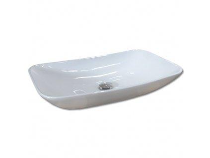 Maxwhite VENICE 8119 Umyvadlo keramické obdelníkové na desku, bílé
