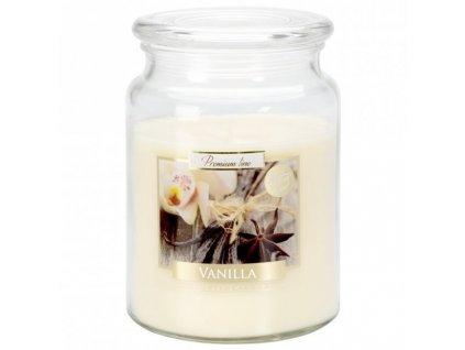 Svíčka ve skle Vanilka vonná 500g